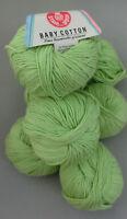 (7,80 €/100g): 225 g Stahlsche Wolle BABY COTTON, Farbe 4319 grün  #2622