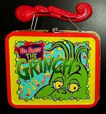 Vtg Dr Seuss The GRINCH COLLECTIBLE METAL Tin LUNCHBOX Cindy Lou Who Christmas