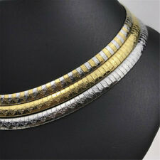 Mujeres de Moda de Acero Inoxidable Plata/Oro Collar Gargantilla Collares Regalo 6mm/8mm