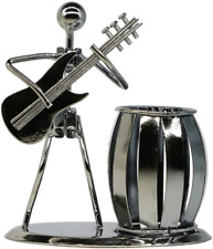 More details for guitar pen holder creative desktop accessories multipurpose metal pencil holder