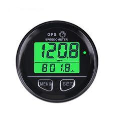 Gps Speedometer gauge, 60mm, odometer, 12V/24V, green backlit, w/wire harness