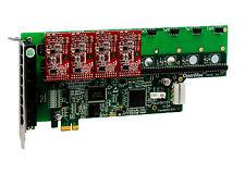 OpenVox A800E04 8 Port Analog PCI-E Base card + 0 FXS + 4 FXO, Ethernet (RJ45)