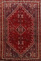 Vintage Tribal Hand-Made Abadeh Nomad Area Rug Traditional Geometric Carpet 7x10