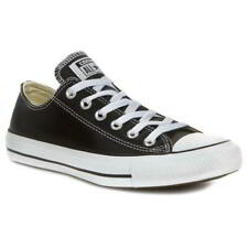Converse All Star Oxford Leather Mens Womens Ladies Black Trainers Shoes 5-10