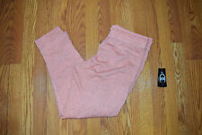 NWT Womens CHAMPION Heathered Sherbert Pink Pocket Lounge Joggers Sweat Pants M