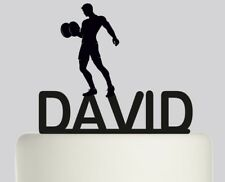 Weightlifter Personalised Acrylic topper Birthday cake Topper.390