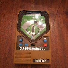 Mattel Classic Baseball Electronic Handheld Game 2001 Two Levels