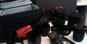 Canon EOS 50D mit Weitwinkelobjektiv Sigma 10-20mm,3,5 DC-HSM und Zubehör