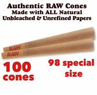 RAW classic 98 special Size Authentic Pre-Rolled Cones with Filter - 100 Pack