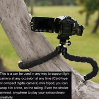 Flexible Small Octopus Mount Mini Tripod Bluetooth Remote Stand Holder Phone