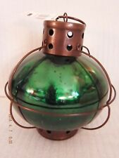 "NAUTICAL GREEN LATERN CANDLE HOLDER 8.5"" x 10"" NWT   T7"