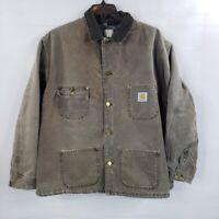 VTG Carhartt CB1082 Brown Blanket Lined Jacket Men's XL USA Made United Garment