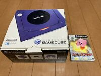 Nintendo GameCube Console & Controller Purple Original Color with BOX and Manual