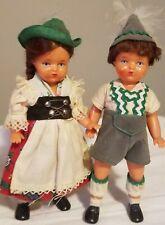 "VintageSchildkrot Turtle Mark Celluloid German Dolls set 5 1/2"" Bavaria antique"