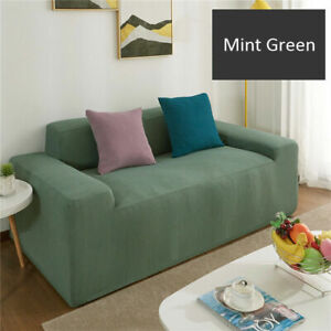 1/2/3/4 Seater Elastic Sofa Cover Slipcover Settee Stretch Solid Couch Protector