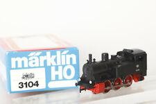 Märklin H0 3104 Locomotive Locomotive-Tender Noir DB 89 066 IN Ovp (117156)