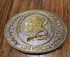 NORTH AMERICAN HUNTING CLUB Belt Buckle Life Member Eagle Gun