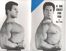 Reg Park bodybuilding muscle booklet A Big Chest For You 30 pgs Reprint 2013