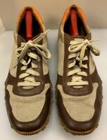 Cole Haan Men 13 M / D NikeAir Shoes Brown Leather Beige Suede Nylon Waffle Sole
