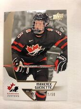 2019 Upper Deck Team Canada Juniors Midnight /50 Maxence Guenette #18 SP