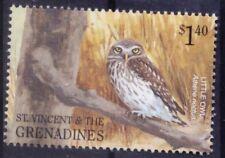 Little Owl, Birds of Prey, St. Vincetn & Grenadines 2001 MNH