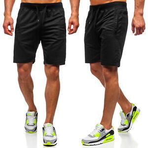 Shorts Kurzhose Sporthose Kurze Bermudas Sport Unifarben Herren Mix BOLF Basic