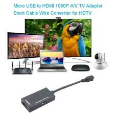 Micro USB to HDMI 1080P A/V TV Adapter Cable Wire Converter for Samsung HDTV