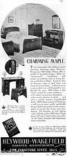 1937 Print Ad of Heywood Wakefield Old Colony Maple Gloucester Bedroom Set