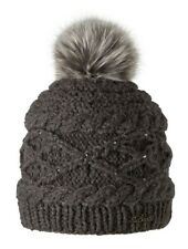 2018 BARTS CLAIRE HEATHER BROWN ADULT BEANIE FAUX FUR POM HAT 138500 WOMENS JUMP
