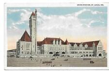 Union Station ,St. Louis Mo. Unposted Postcard Railroad