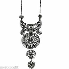 Moroccan african   Crescent Moon  artisan  necklace