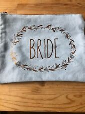 Paperchase Bride Makeup Bag Pouch Purse Blue Gold Cosmetics Gift Wash Hen Do