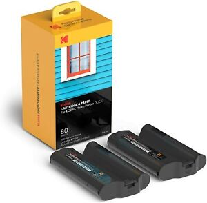 KODAK PHC-80 Cartridge & Paper for KODAK/AGFA Postcard Size Photo Printers