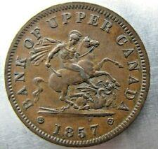 Canada token: BR.719 Bank Token 1857. Very sharp brown AU+