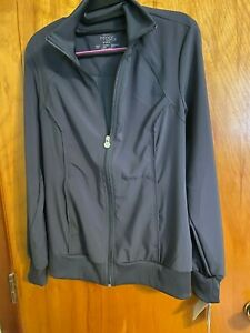 Cherokee Women's Infinity Zip Front Warm-Up Jacket, Pewter, Sz Small New w/tags