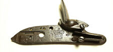 British Gov't marked Tower Lock Plate with Frizzen, & Frizzen Spring