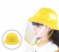 Children's Bucket Hat with Detachable Front Panel. Prevents dust, liquid etc...