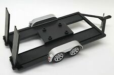 Motormax 1/18 Scale 4 Wheel Car Trailer with Ramps For Diecast Model Car Diorama