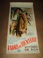 LADRI DI BICICLETTE locandina VITTORIO DE SICA  neorealismo bicycle thief poster