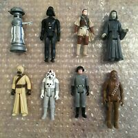 Star Wars Vintage Kenner Lot Of Action Figures Leia AT-AT Driver Chewbacca