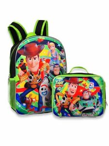 """Toy Story 4 - 16"""" Backpack with Detachable Matching Lunch Box"""