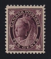 Canada Sc #73 (1897) 10c brown violet Maple Leaf Mint VF LH