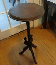 Early antique victorian wood candle plant stand light stand