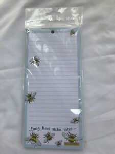 Emma Ball Busy Bees Notes Magnetic Notepad Shopping List Memo Pad To Do Lists