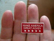 "Trump ""MAKE AMERICA GREAT AGAIN"" Pin, Raised Lettering and Stars"