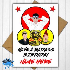 Cobra Kai Karate Kid Personalised Birthday Card any Name Age