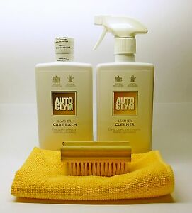 Autoglym Leather Cleaner & Care Balm KIT with Brush and Microfibre Cloth