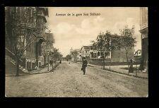 France SAN STEFANO Avenue de la Gare Station Avenue vintage PPC