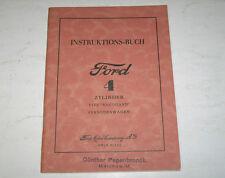 Betriebsanleitung Handbuch Ford 4 Zylinder PKW Type Rheinland, Stand 1934
