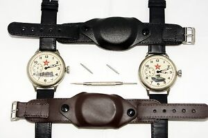 Military Soft Leather Watch Strap with Cover 18mm spring bars & remover tool